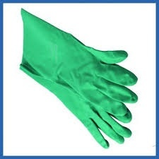 Nitrile Chemical Gauntlet Size 7 Personal Protective Equipment PPE