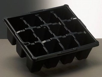 AEROPLAS 12CELL TRAY AC1-BL/C Pots Containers & Baskets >Aeroplas (Trays)